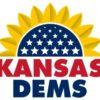 Kansas Dems logo w sunflower